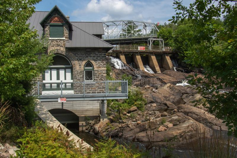 Bracebridge produisant de la station Muskoka Ontario Canada photographie stock