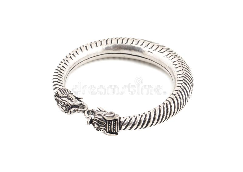 Bracelet argenté photographie stock libre de droits