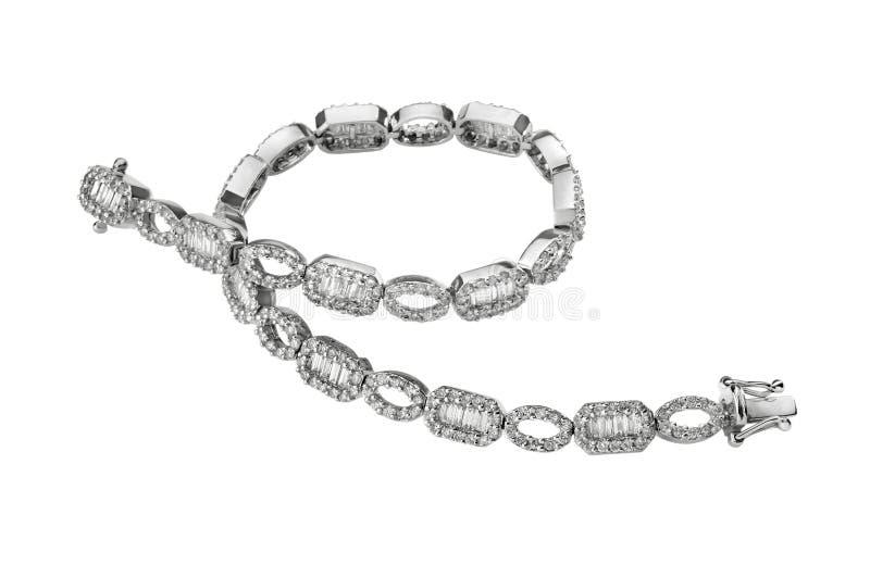 Bracelet avec des diamants images libres de droits