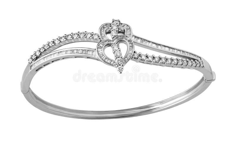 Bracelet avec des diamants photo stock