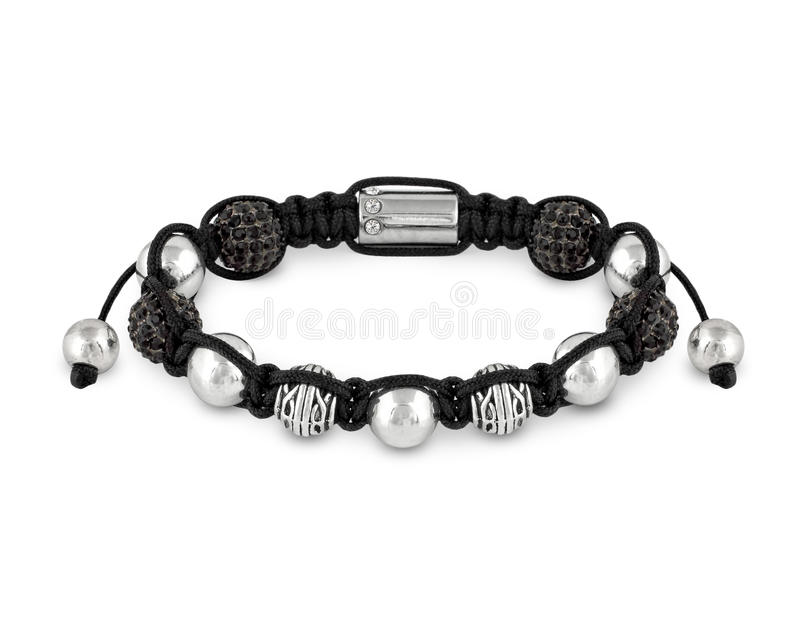 Bracelet with beads stock images