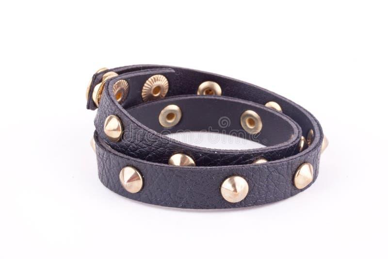 Bracelet clouté par noir photographie stock libre de droits