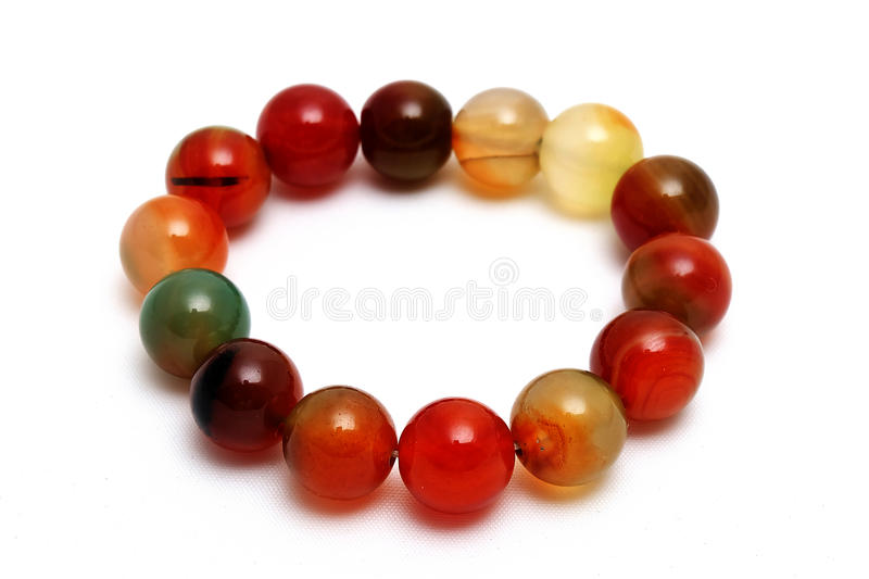 Bracelet coloful agate lucky stone royalty free stock photography