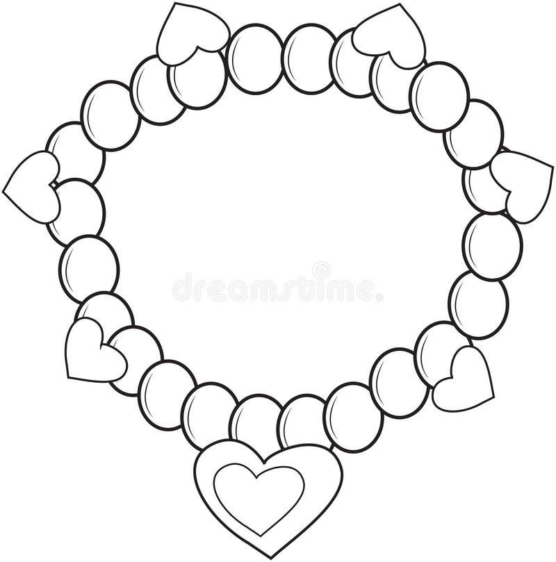 Bracelet Coloring Page Stock Illustration Illustration Of