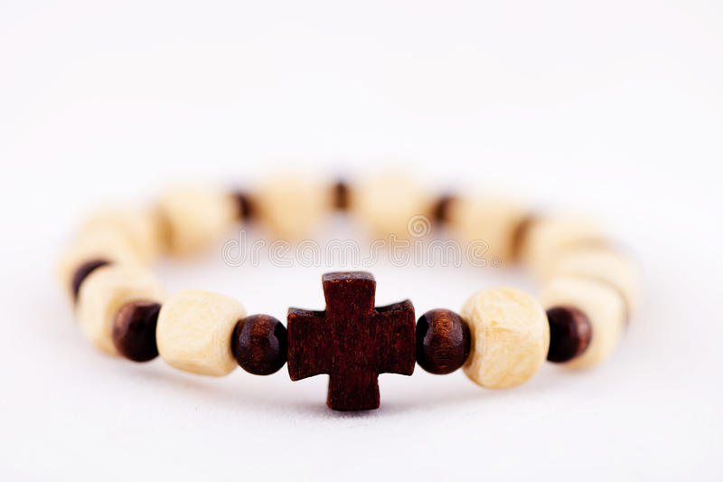 Download Bracelet with cross stock photo. Image of cross, chain - 24718334