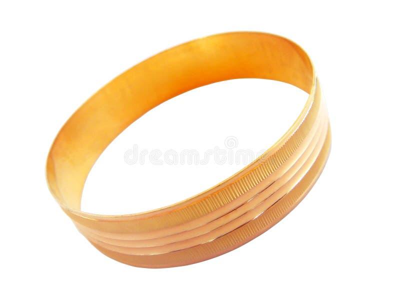 Bracelet d'or photographie stock