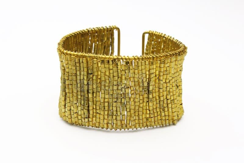 Bracelet d'or photo libre de droits