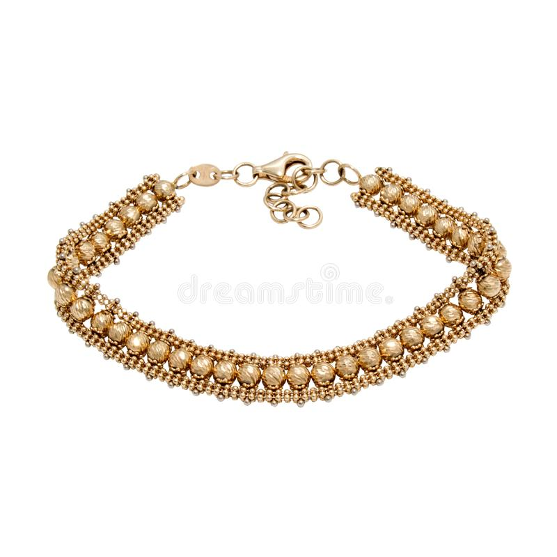Bracelet d'or gracieux photo libre de droits