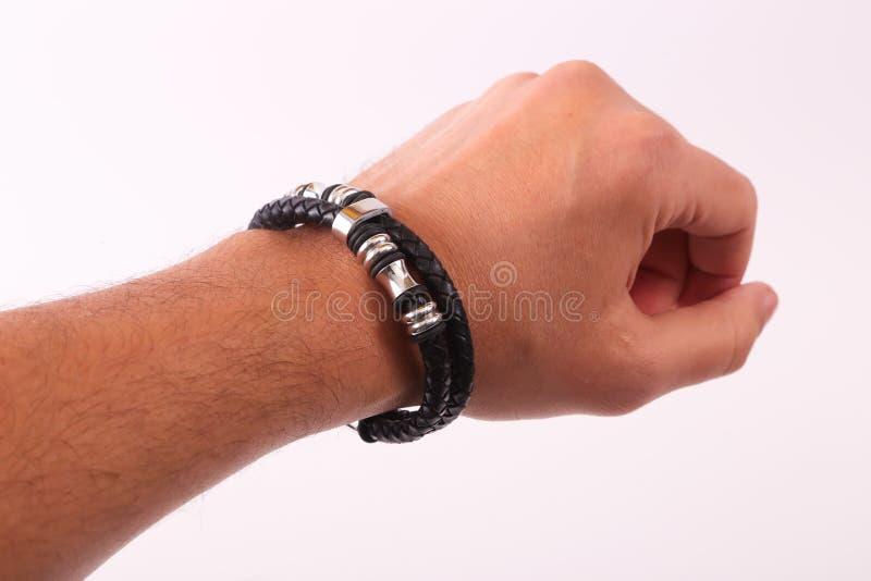 Bracelet d'usage de main image libre de droits