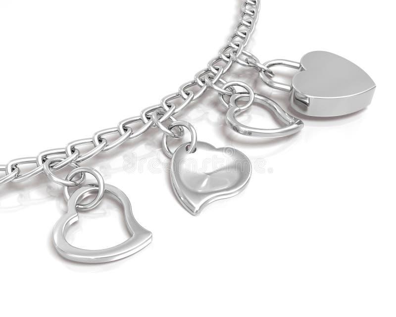 Bracelet des coeurs illustration libre de droits