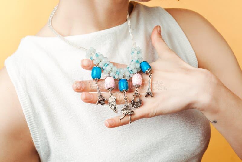 Bracelet on a hand isolated yyyy stock image