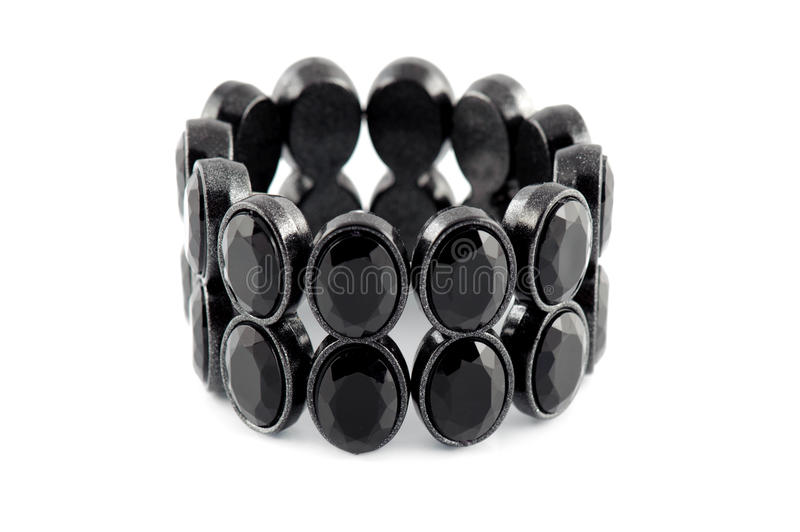 Bracelet noir photographie stock
