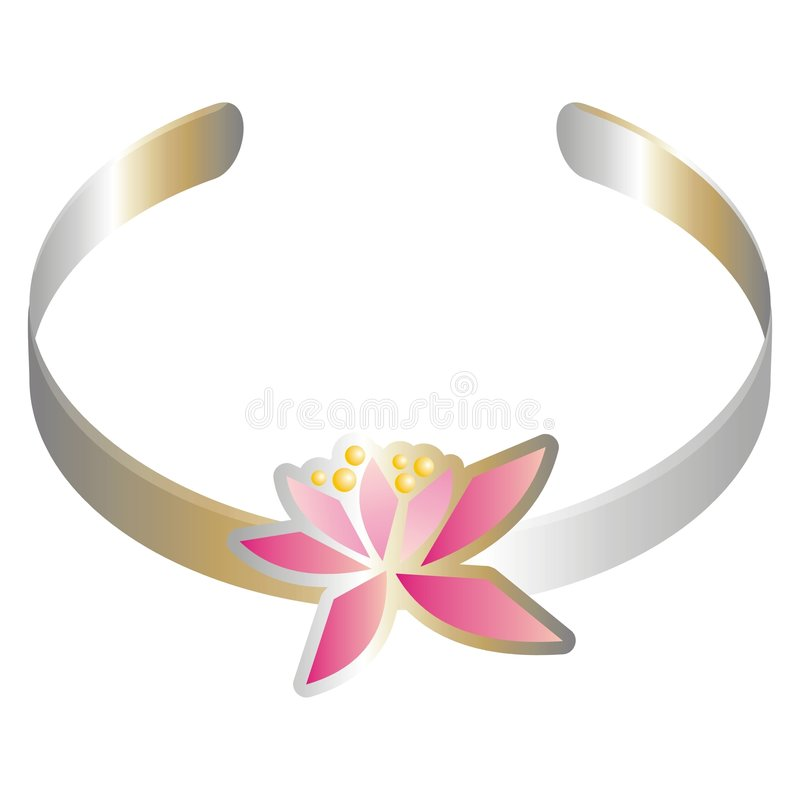 Download Bracelet With A Pink Flower Stock Vector - Image: 2322656