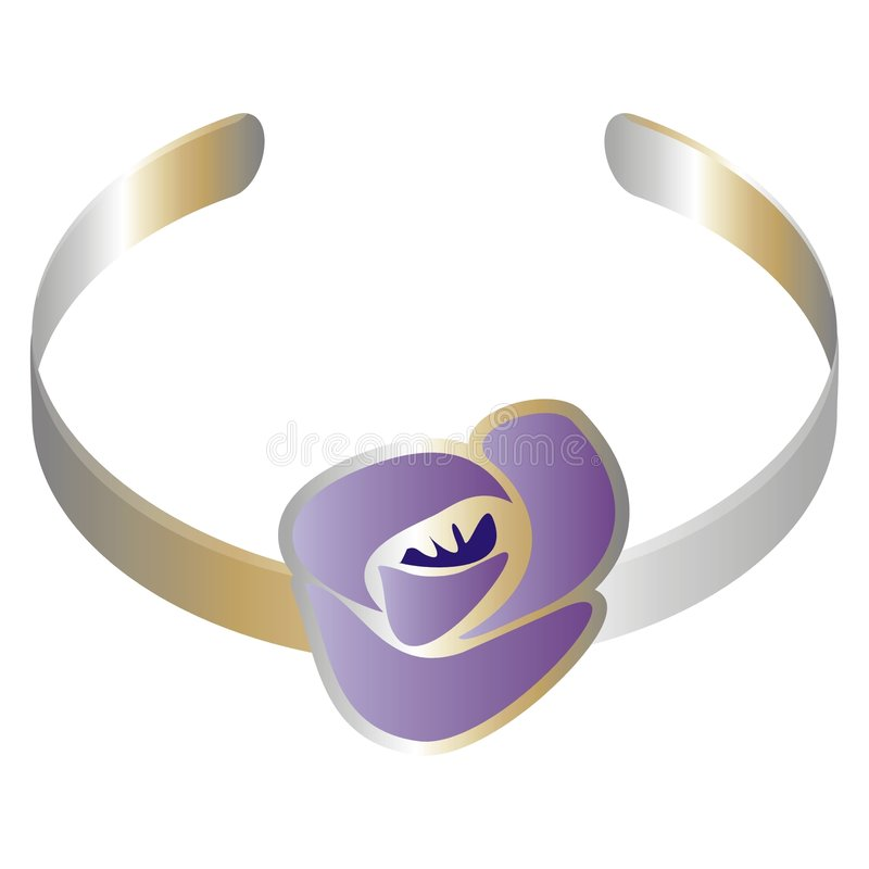 Download Bracelet With A Purple Flower Stock Vector - Image: 2322658