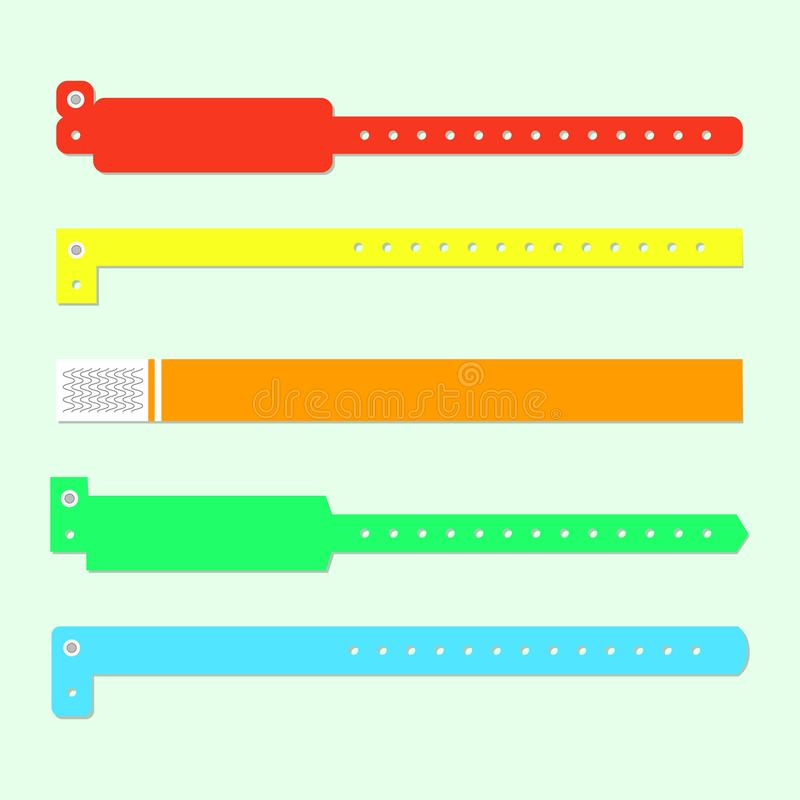 Bracelet wristband set royalty free illustration