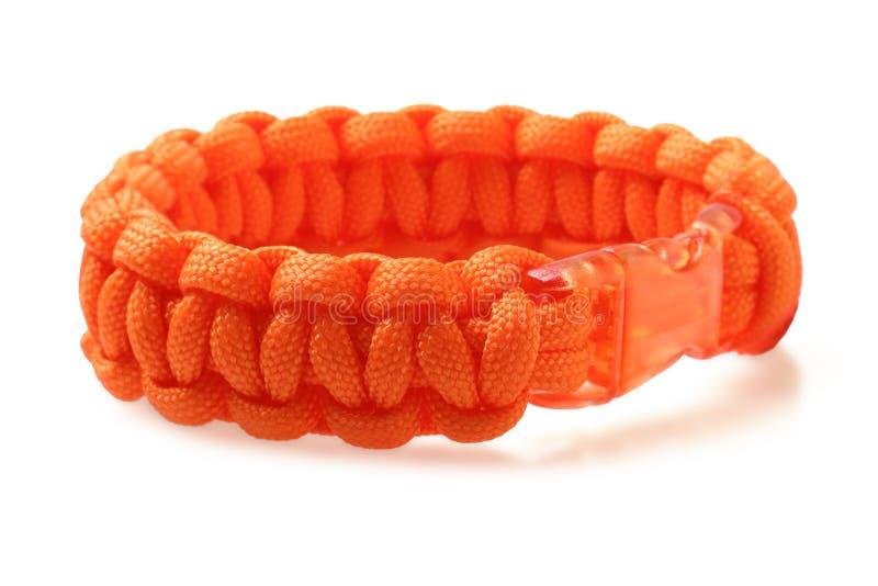 Bracelete alaranjado do cabo de Para foto de stock royalty free