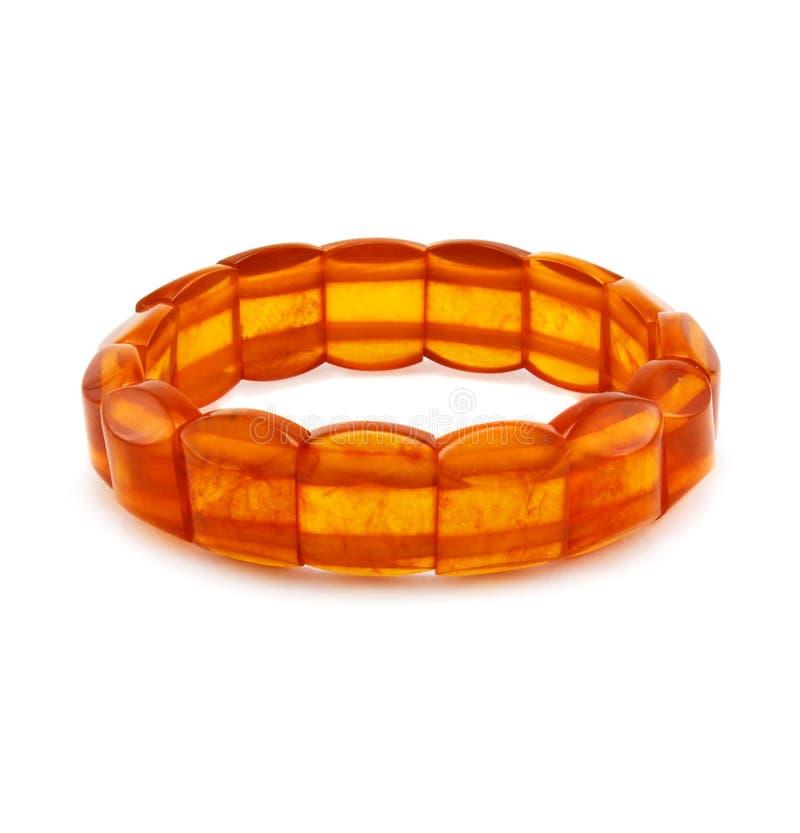 Bracelete ambarino isolado imagem de stock royalty free