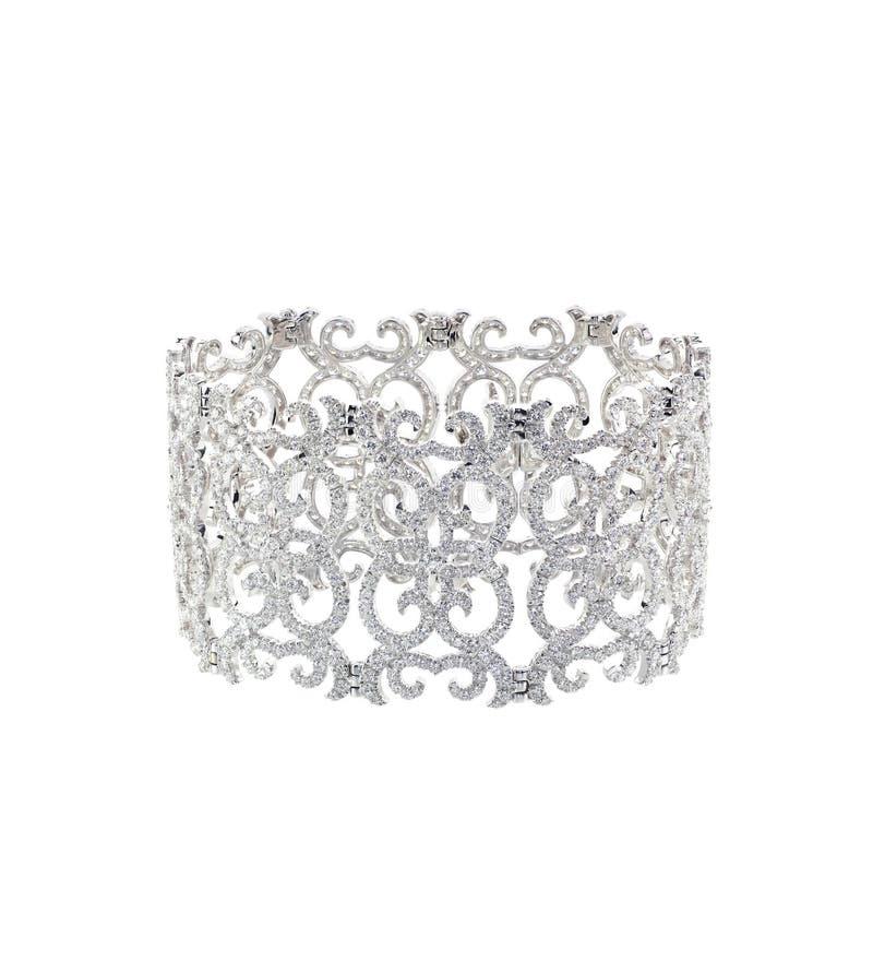 Bracelete antigo do art deco do diamante fotos de stock royalty free