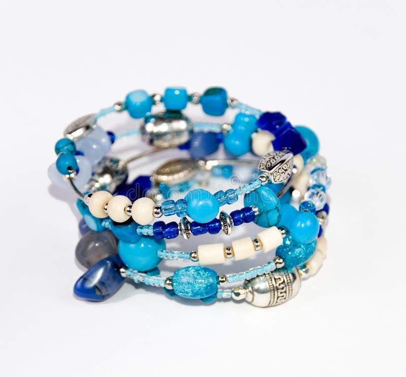 Bracelete azul fotografia de stock royalty free