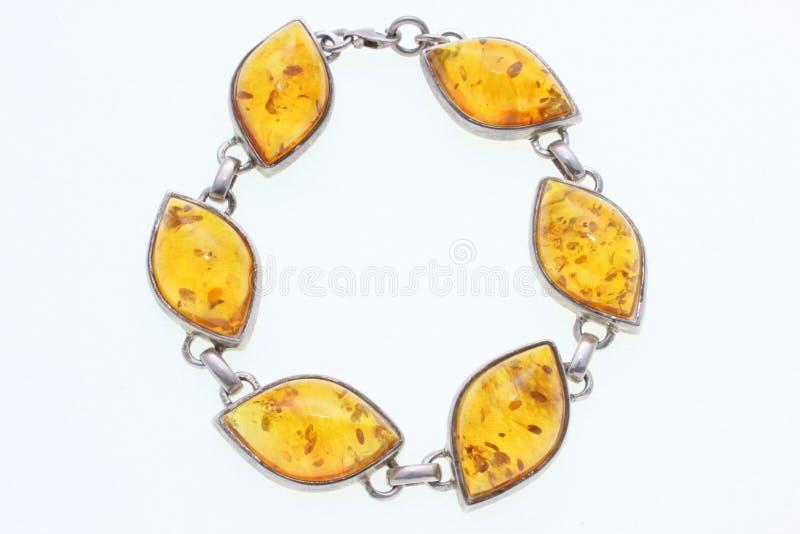 Bracelete com âmbar fotografia de stock