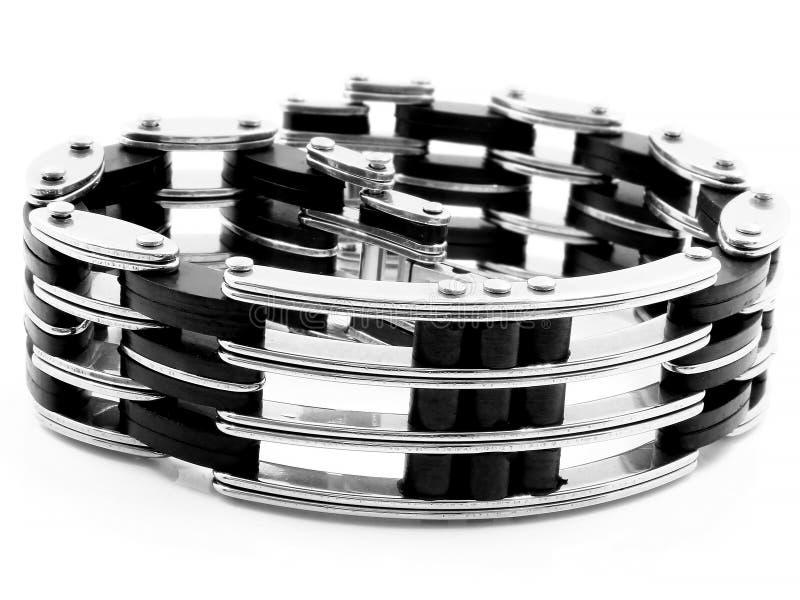 Bracelete da joia bangle Aço inoxidável fotografia de stock