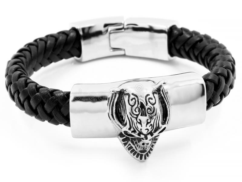 Bracelete da joia bangle Aço inoxidável foto de stock royalty free