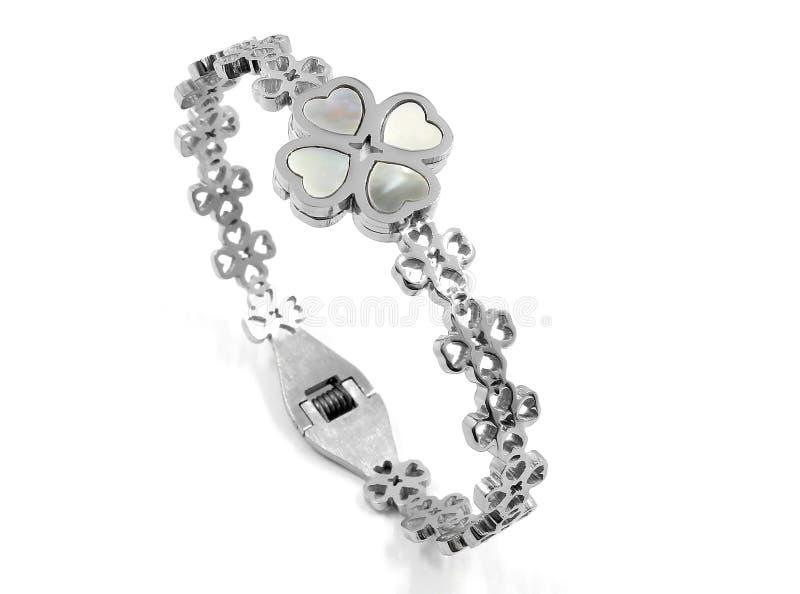 Bracelete da joia das senhoras - de aço inoxidável foto de stock royalty free