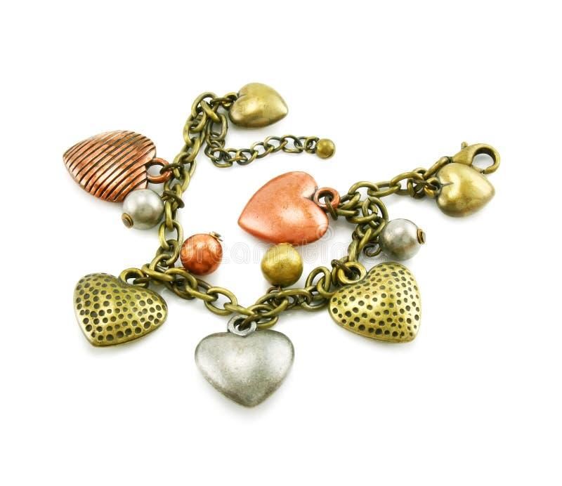 Bracelete dado forma coração isolado imagens de stock royalty free