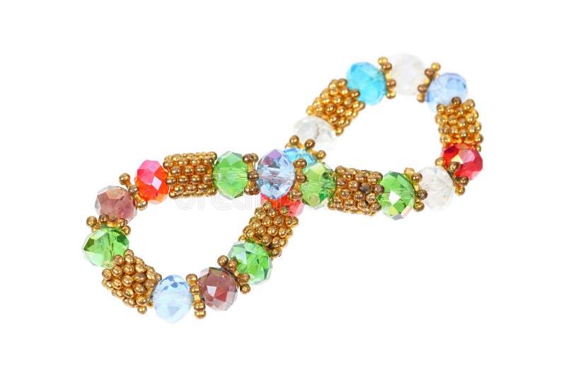 bracelete das gemas isolado no branco imagem de stock