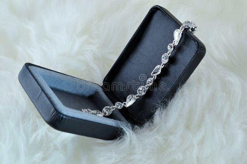 Bracelete de cristal fotografia de stock