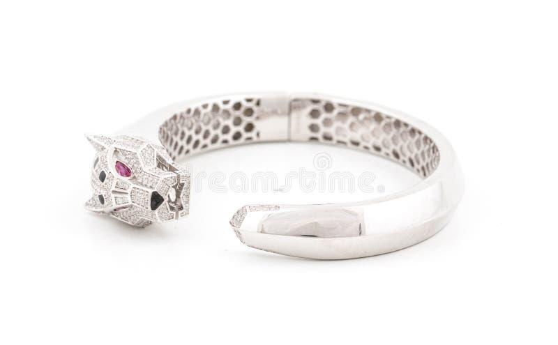 Bracelete de prata fotografia de stock