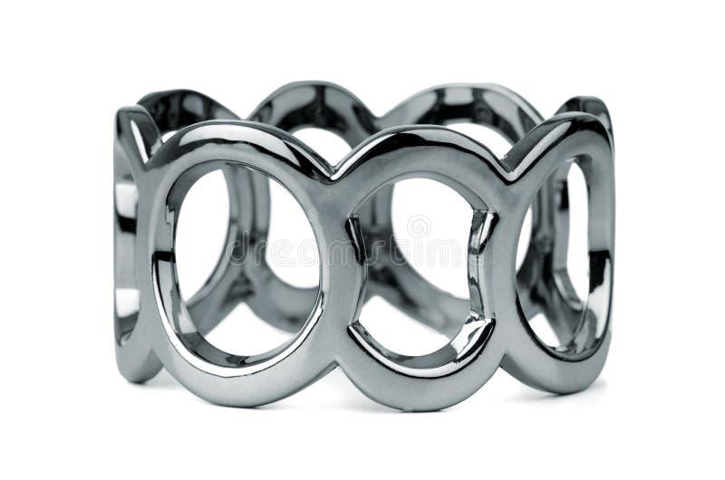 Bracelete de prata imagem de stock royalty free