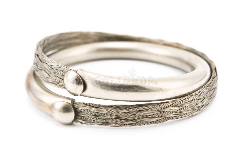 Bracelete de prata imagens de stock royalty free