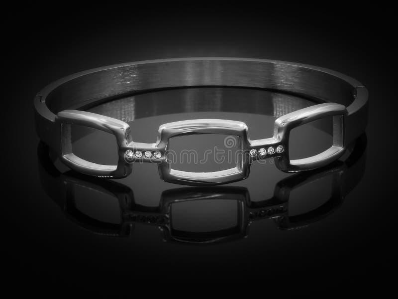 Bracelete de prata da joia A?o inoxid?vel fotos de stock royalty free