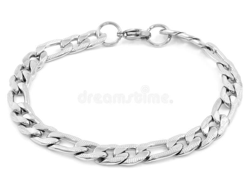 Bracelete de prata da joia A?o inoxid?vel imagens de stock royalty free