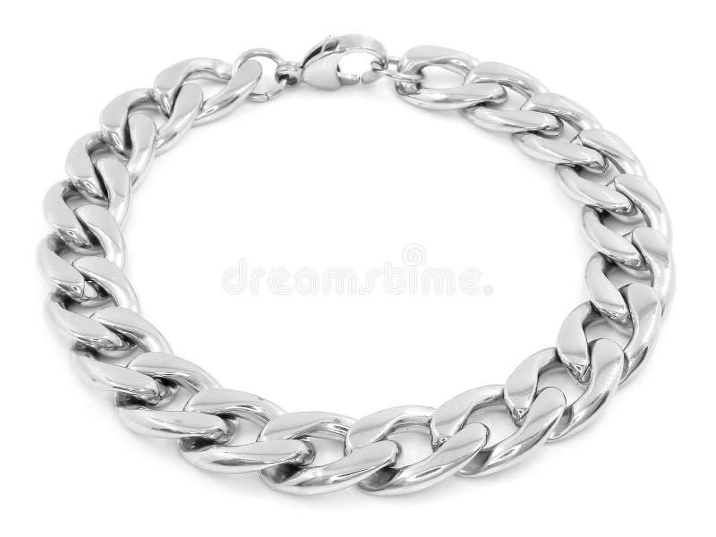 Bracelete de prata da joia A?o inoxid?vel imagens de stock