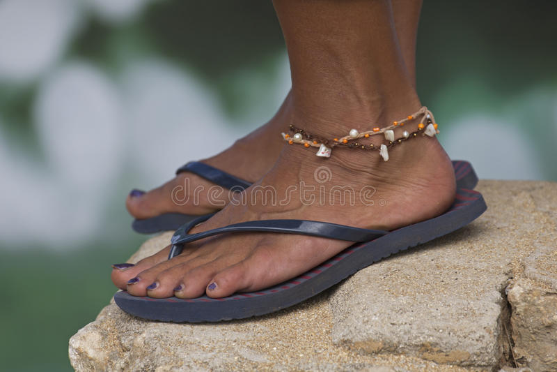 Bracelete de tornozelo foto de stock