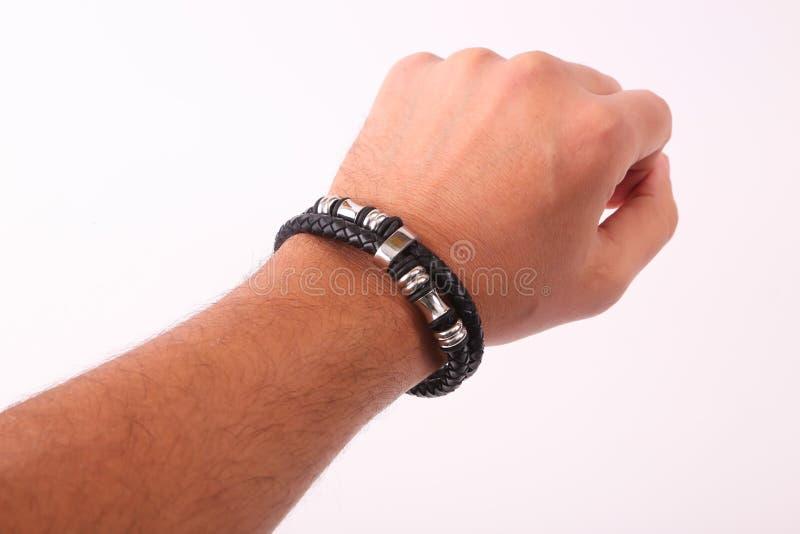 Bracelete do desgaste da mão imagens de stock