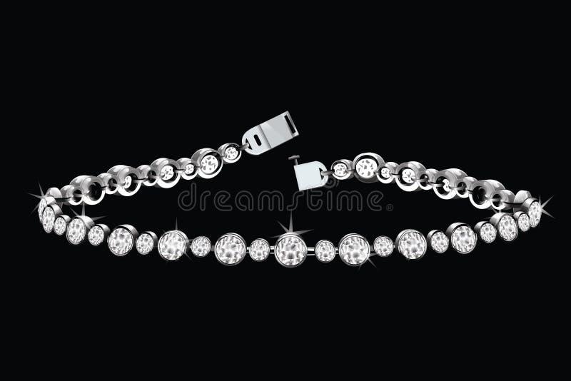 Bracelete do diamante imagem de stock