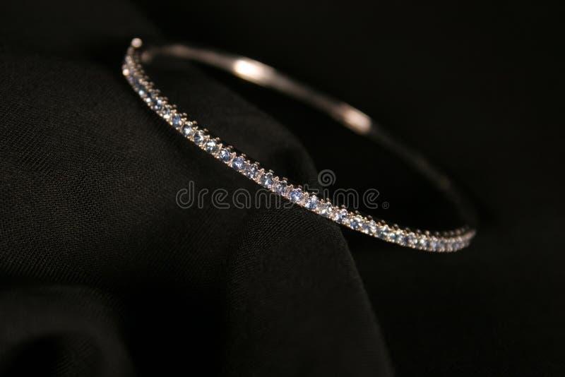 Bracelete do diamante fotografia de stock royalty free