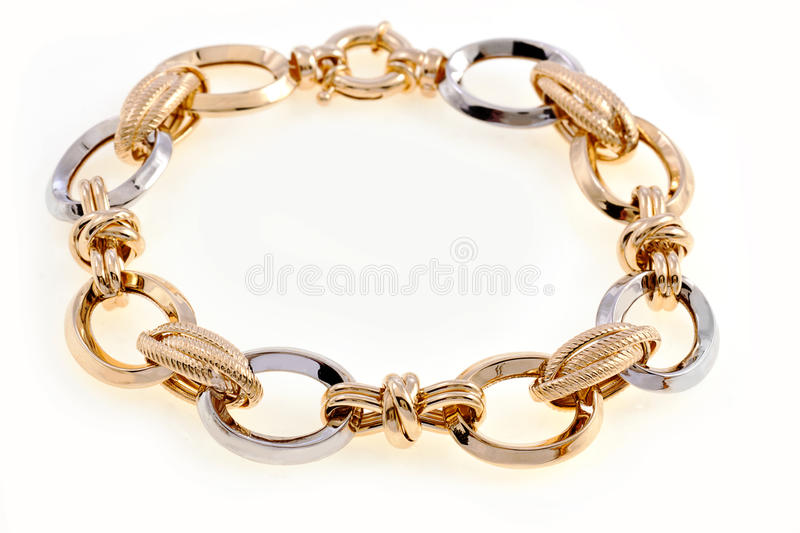 Bracelete do ouro fotografia de stock
