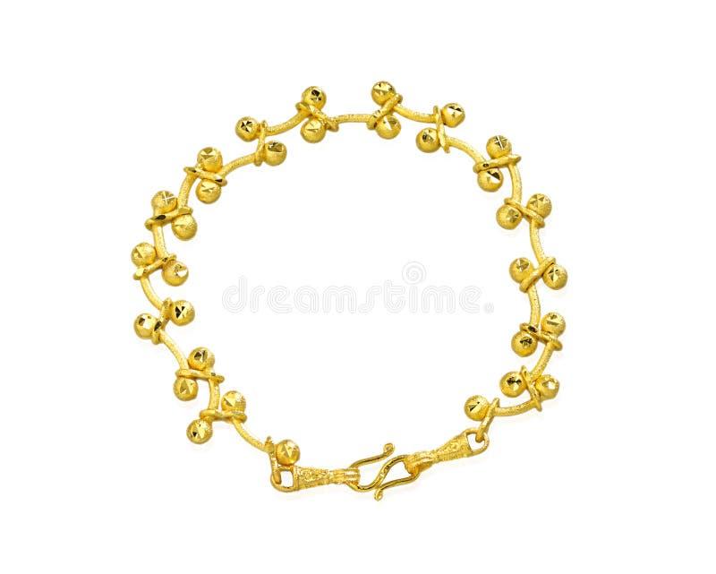 Bracelete dourado foto de stock royalty free