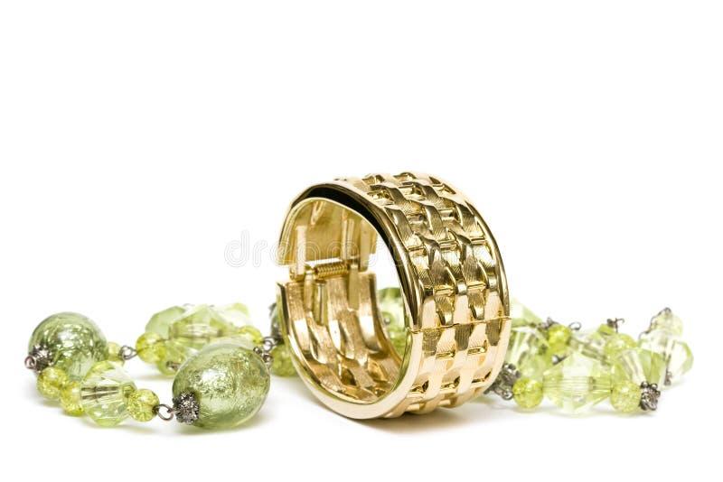 Bracelete dourado foto de stock