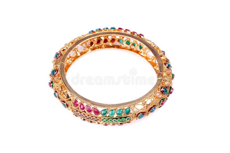 Bracelete dourado fotografia de stock