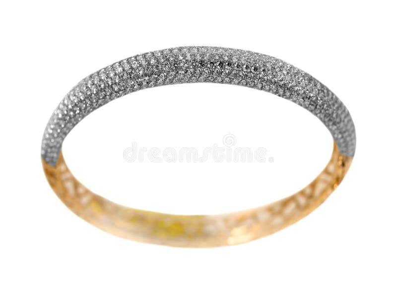 Bracelete dourado da jóia fotos de stock