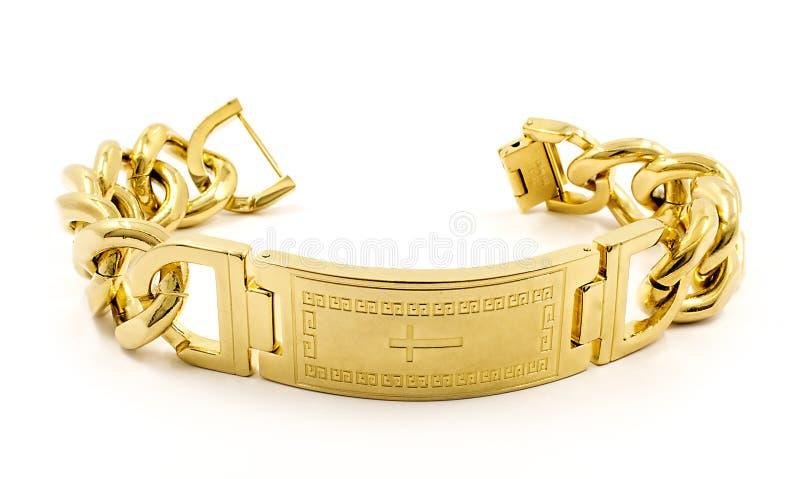 Bracelete maciço para homens imagem de stock