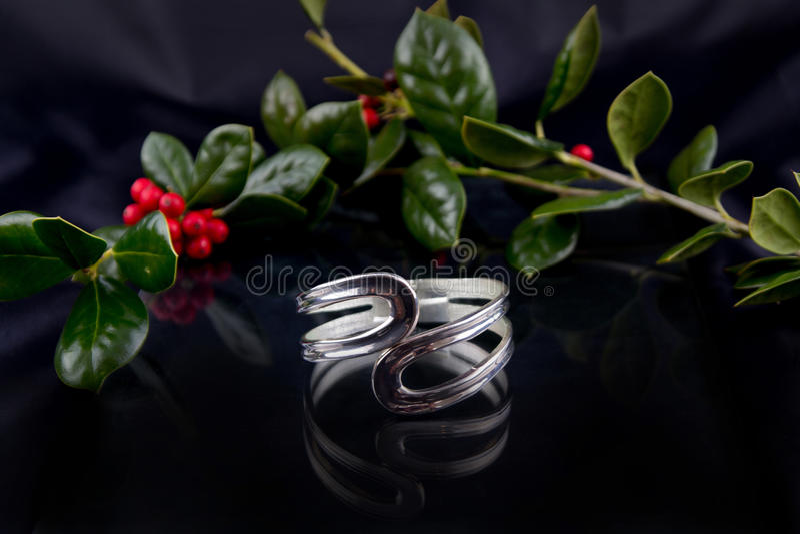 Bracelete no preto foto de stock royalty free
