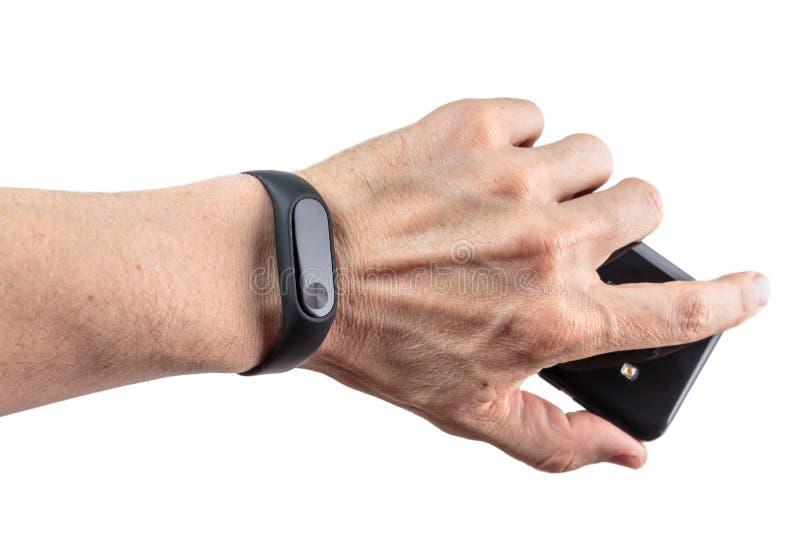 Bracelete-relógio da aptidão fotografia de stock royalty free