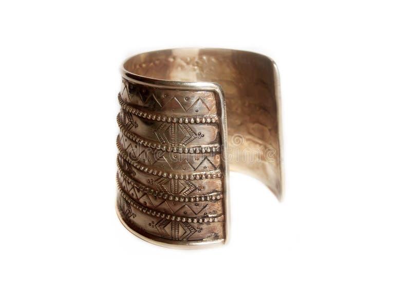 Bracelete velho da civilização no branco imagem de stock royalty free