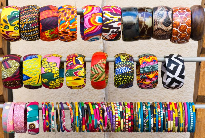 Braceletes coloridos da pulseira imagem de stock
